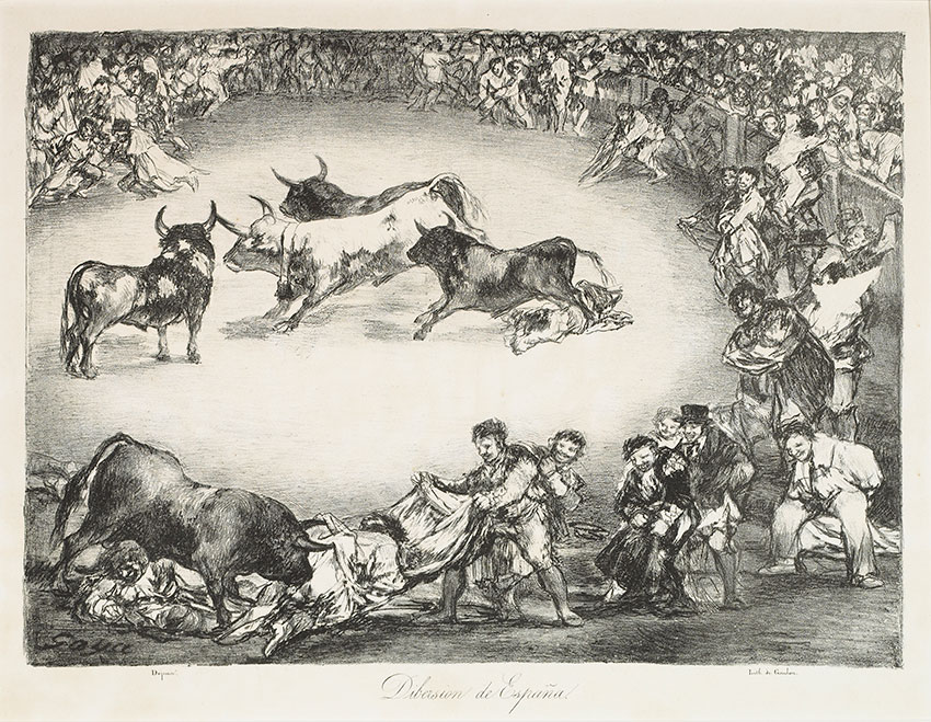 image of Francisco de Goya y Lucientes (1746-1828). Bulls of Bordeaux. Spanish Fun. Plate No. 3. 1825